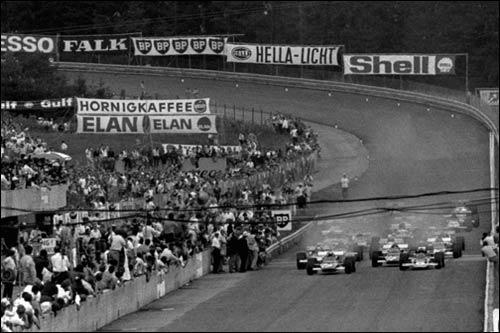 Старт Гран При Австрии 1970 года. Фото из архива Бернара Кея