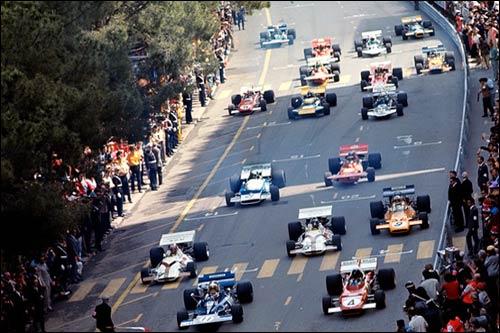 Старт Гран При Монако 1971 года. Фото из архива Бернара Кея