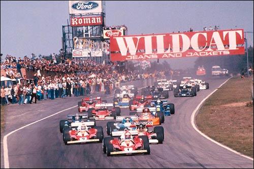 Ники Лауда лидирует на старте Гран При Бельгии 1976 года