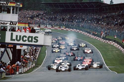 Старт Гран При Великобритании 1980 года