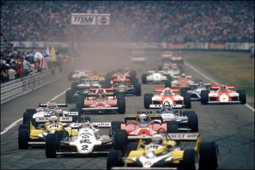Ален Прост лидирует на старте Гран При Германии 1981 года