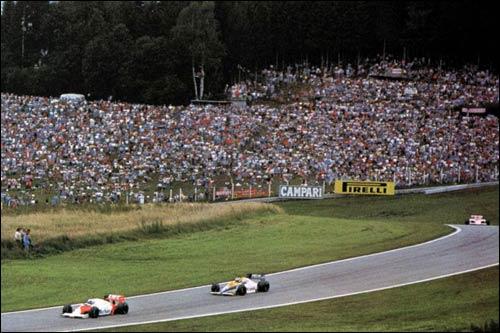 Ален Прост и Кейо Росберг лидируют на старте Гран При Австрии 1985 года