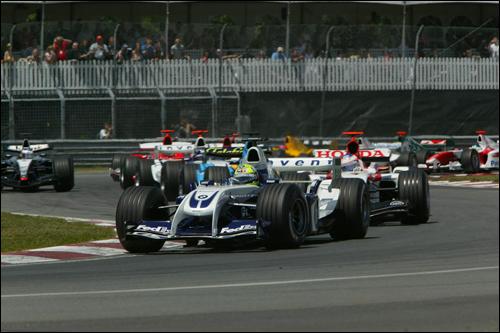 Ральф Шумахер лидирует на старте Гран При Канады 2004 года