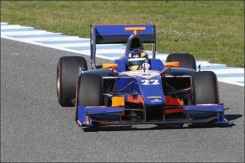 Том Диллман на тестах GP2 в Хересе