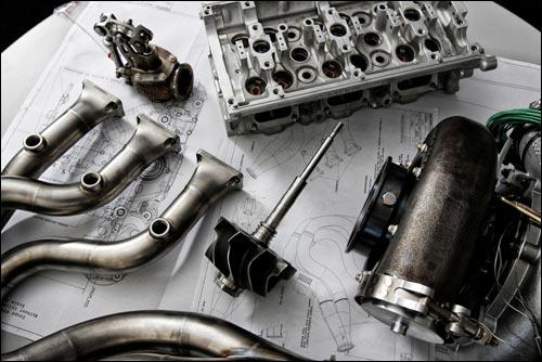 Элементы турбомотора Формулы 1 Renault 2014 года. Фото Renault Sport