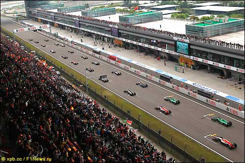 Старт Гран При Китая 2014