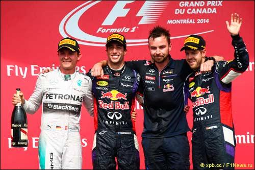 Подиум Гран При Канады