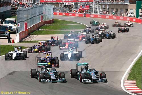 Старт Гран При Канады 2014