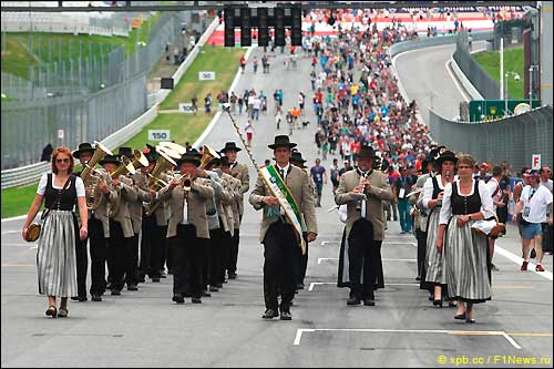 Стартовое поле Гран При Австрии 2014