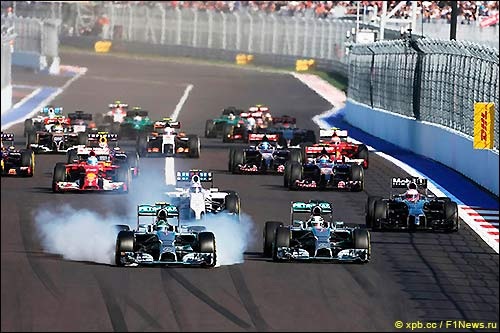 Старт Гран При России 2014