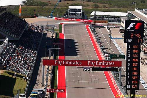 Стартовое поле Гран При США 2014
