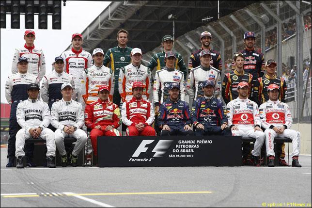 Участники чемпионата мира перед стартом финальной гонки сезона