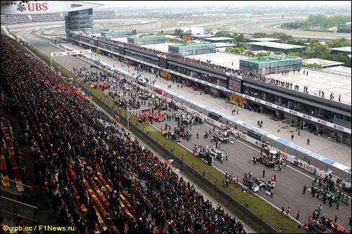 Подготовка к старту Гран При Китая