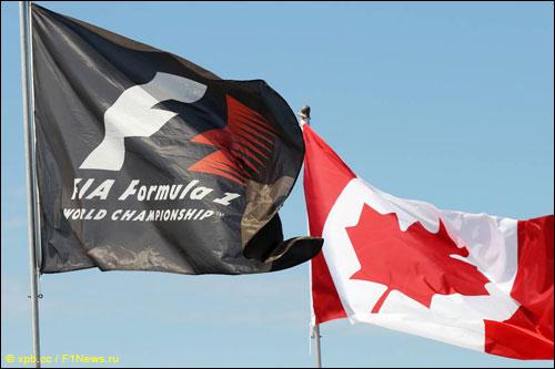 Флаги Канады и Formula 1