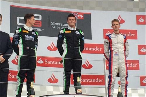 Подиум второй гонки серии GP3 в Великобритании