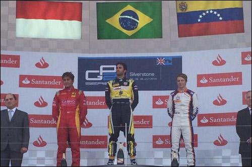 Подиум второй гонки серии GP2 в Великобритании