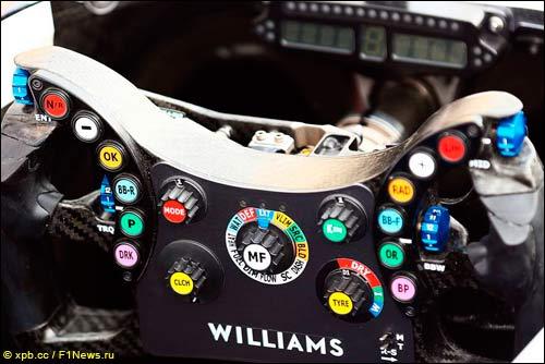 Руль Williams с однострочным индикатором в кокпите