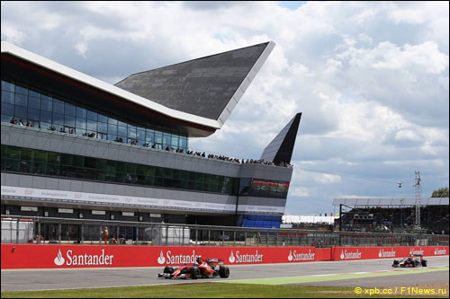 Фернандо Алонсо на Гран При Великобритании