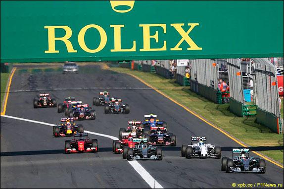 Старт Гран При Австралии 2015