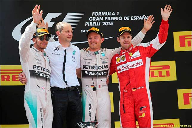 Подиум Гран При Испании