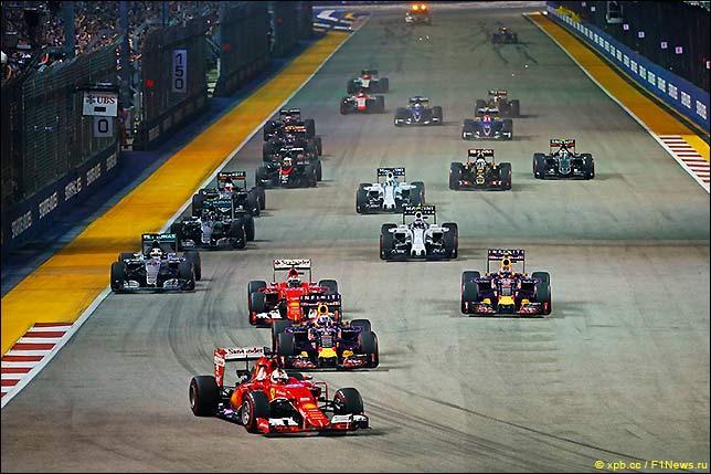 Старт Гран При Сингапура 2015