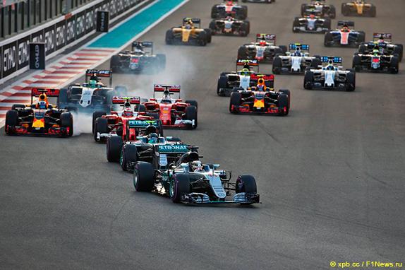 Старт Гран При Абу-Даби 2016 года