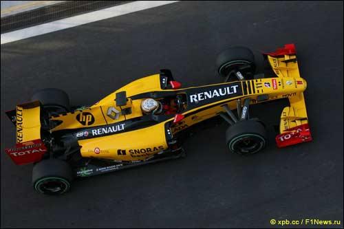Жером Д'Амброзио на Renault R30 во время молодежных тестов Ф1 в Абу-Даби