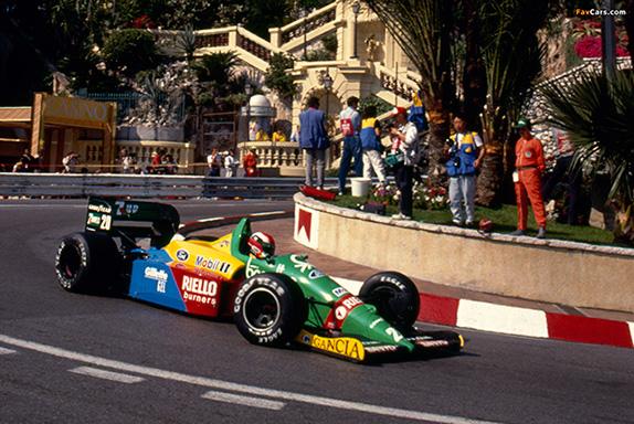 Джонни Херберт за рулём Benetton на Гран При Монако, 1989 год