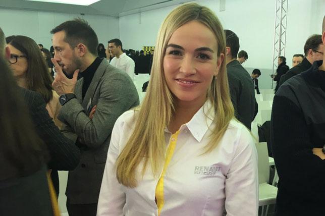 Кармен Хорда на презентации Renault