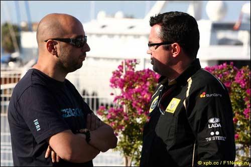 Совладелец фонда Genii Capital Жерар Лопес (слева) и Эрик Булье, руководитель Lotus Renault