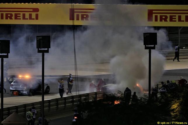 Гран При Бахрейна. Авария Романа Грожана