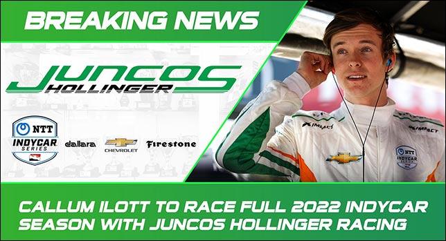 Каллум Айлотт проведёт сезон в Indycar