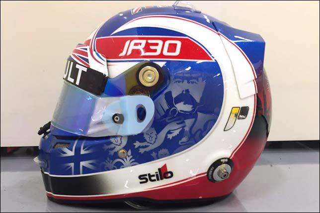 Раскраска шлема Джолиона Палмера на Гран При Великобритании