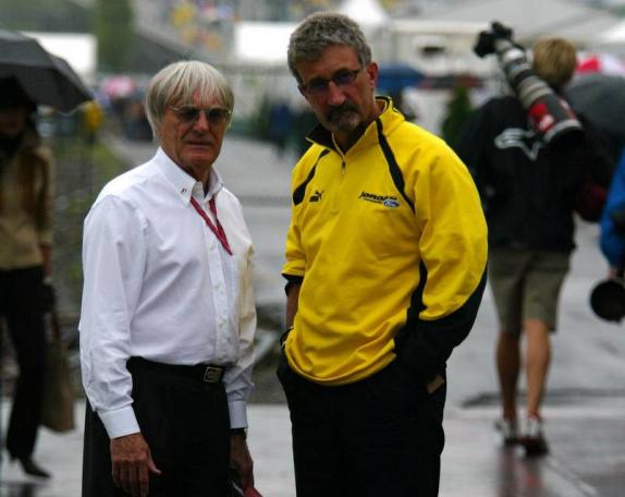 Bernie Ecclestone und Eddie Jordan, 2003, Foto von XPB