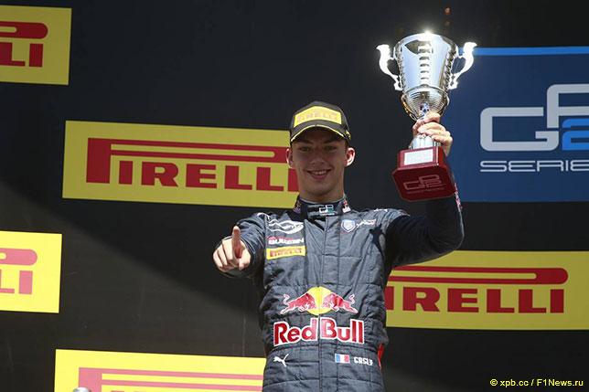 Пьер Гасли занял второе место в воскресной гонке GP2 в Барселоне