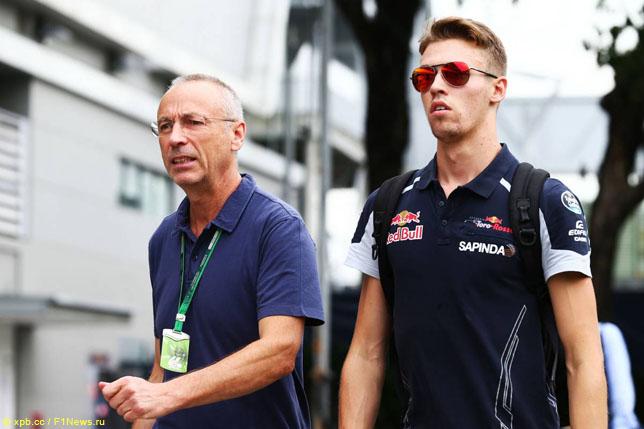 Даниил Квят вместе со своим отцом Вячеславом