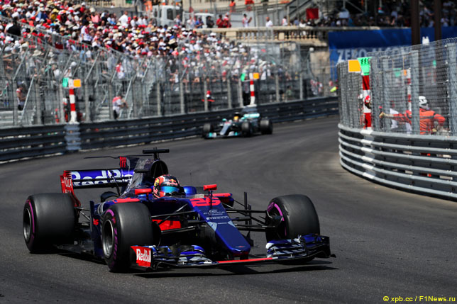 Даниил Квят в Гран При Монако, 2017 год