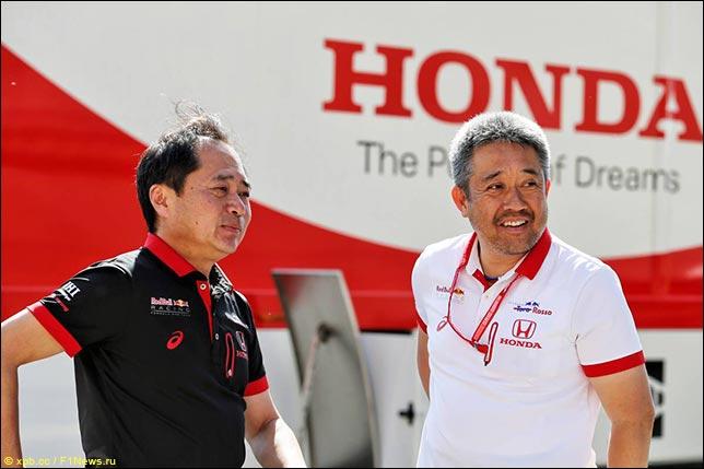 Технический директор Honda F1 Тойохару Танабе и управляющий директор программы японского концерна в Формуле 1 Масаши Ямамото