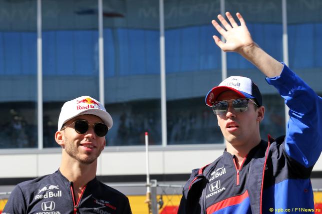 Даниил Квят (справа) и Пьер Гасли