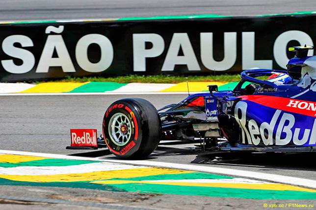 Пьер Гасли на трассе в Бразилии