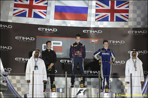 Подиум субботней гонки GP3