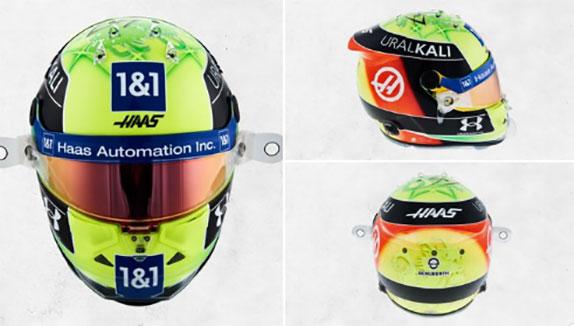 В Haas F1 представили шлем Мика Шумахера