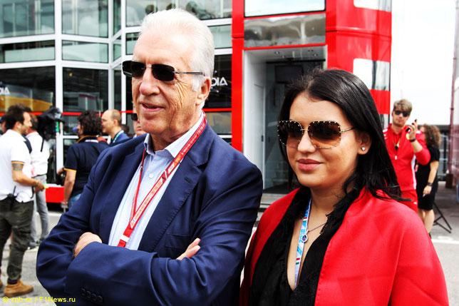 Пьеро Феррари со своей дочерью Антонеллой