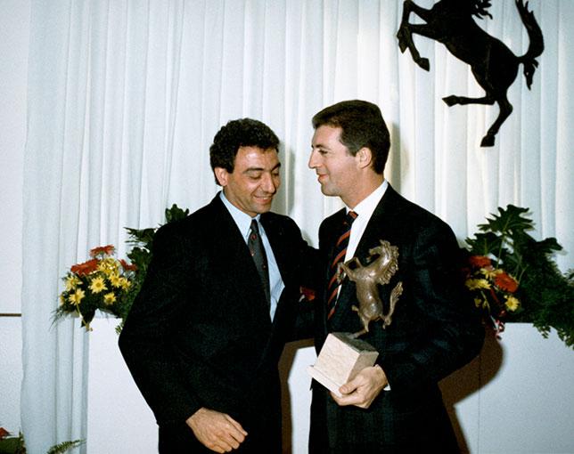 Микеле Альборето и Пьеро Феррари в 80-е годы, фото пресс-службы Ferrari