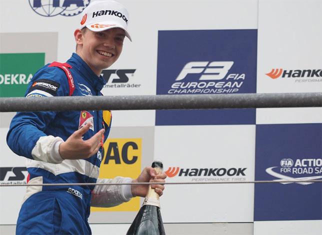 Роберт Шварцман одержал первую победу в Формуле 3!