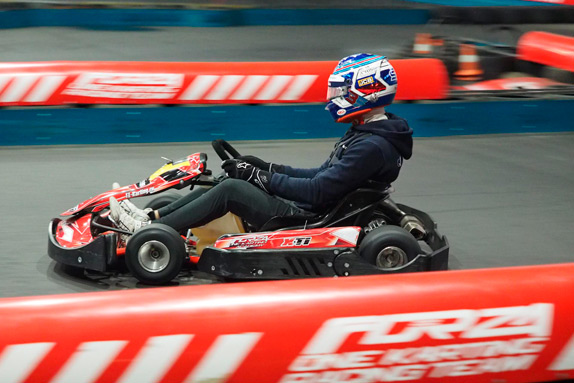Sergey Sirotkin on the Forza One Karting highway