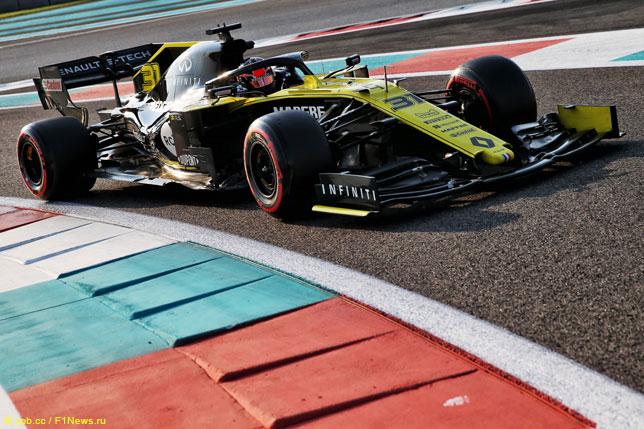 Эстебан Окон на тестах Renault