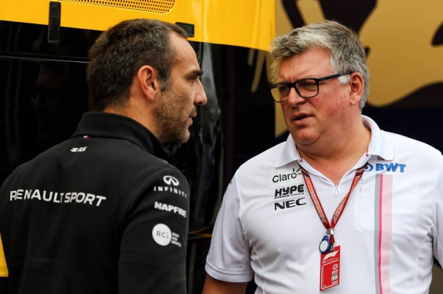 Сирил Абитебул и Отмар Сафнауэр, руководитель Racing Point