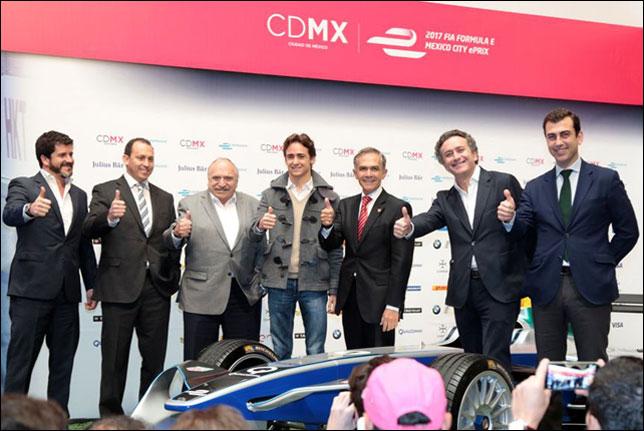 Эстебан Гутьеррес на презентации этапа Формулы E в Мексике