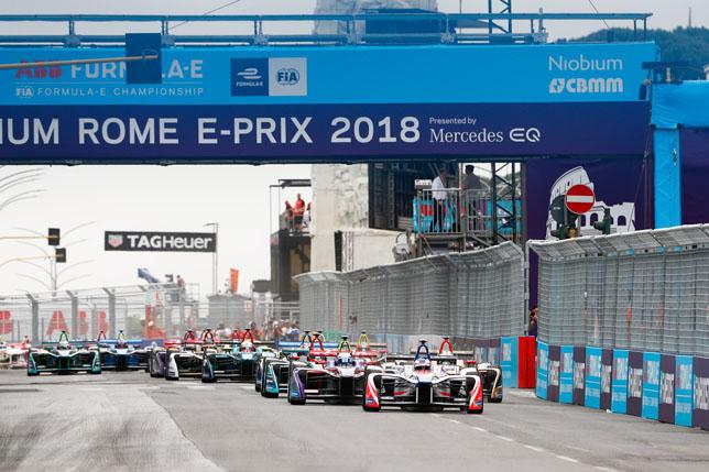 Старт гонки Формулы Е в Риме